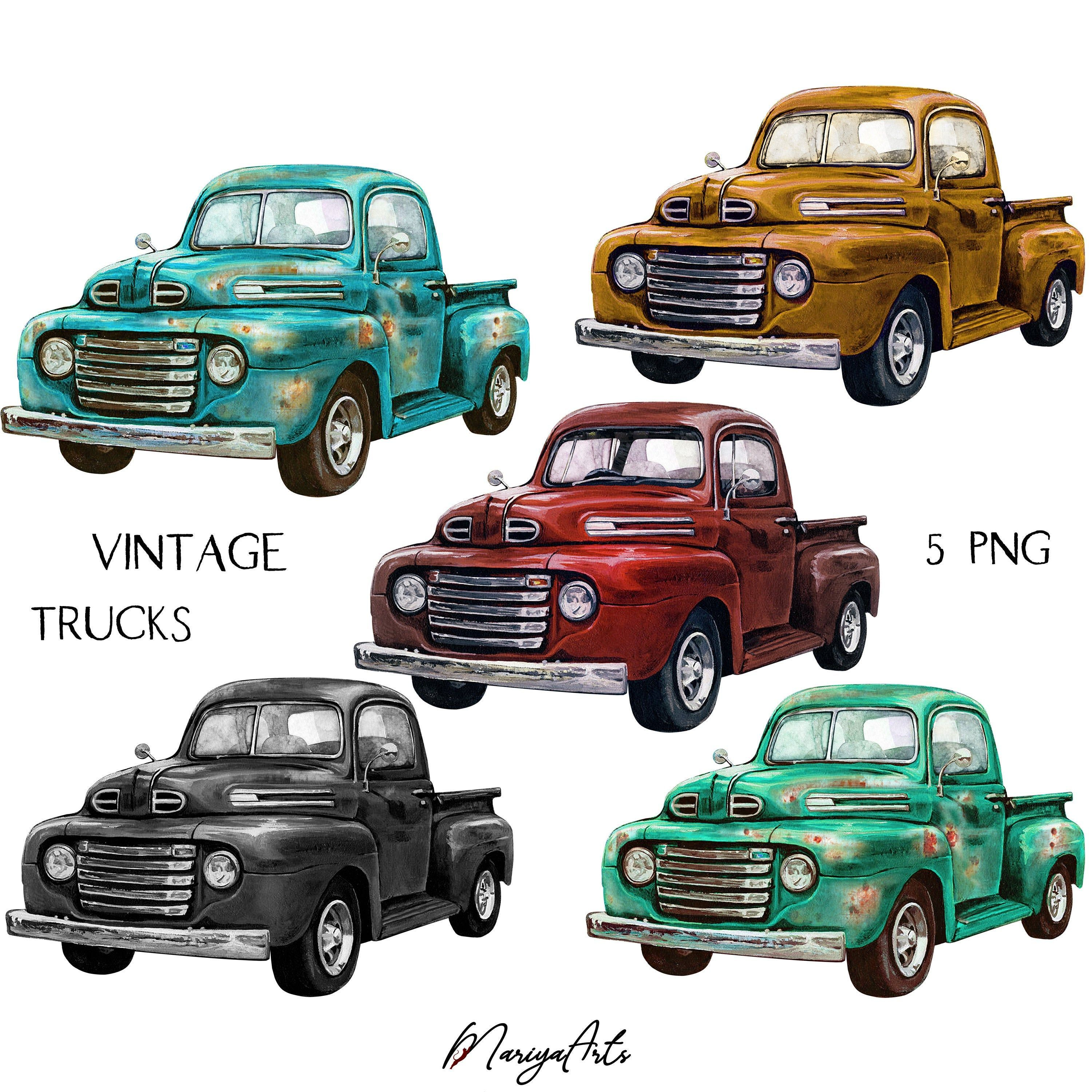 34++ Old blue truck clipart info