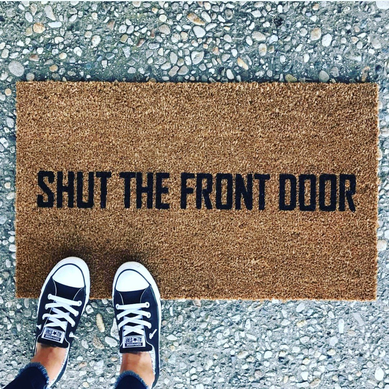 lovely with outdoor stripped mat door front mats welcome idea