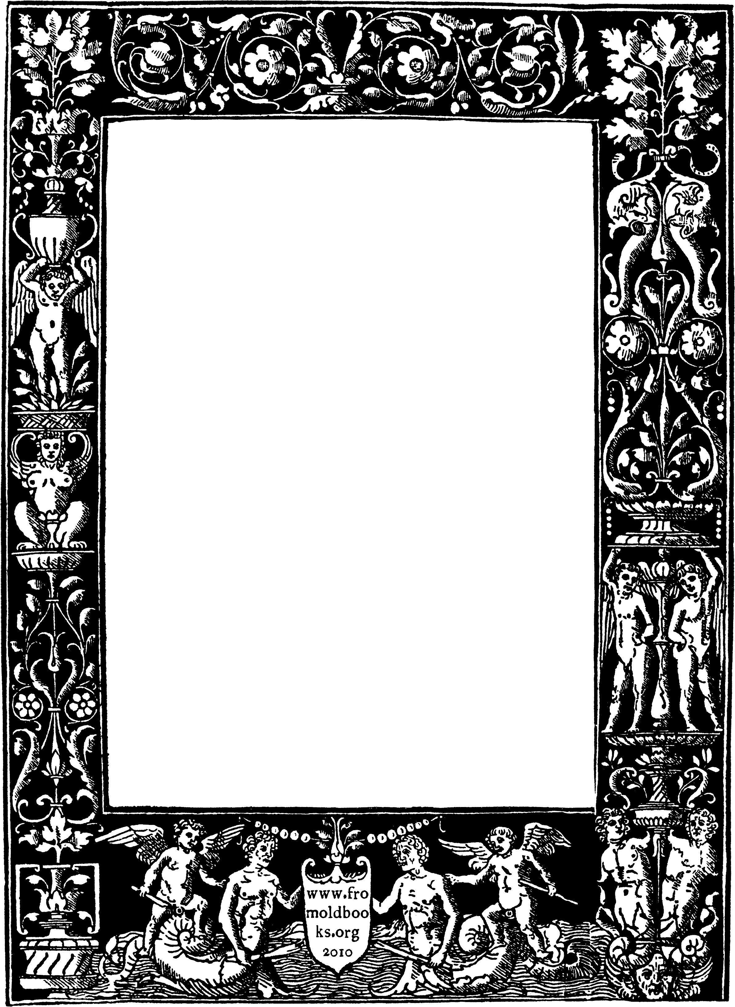 Ornate beautiful frame, featuring cherubs Picture frame
