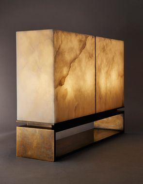 """Designers mining the translucent potential of alabaster are now creating grand scale """"jewellery for the home"""", says Helen Chislett"""