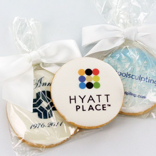Custom corporate logo cookies company branding gifts for Corporate christmas party gift ideas