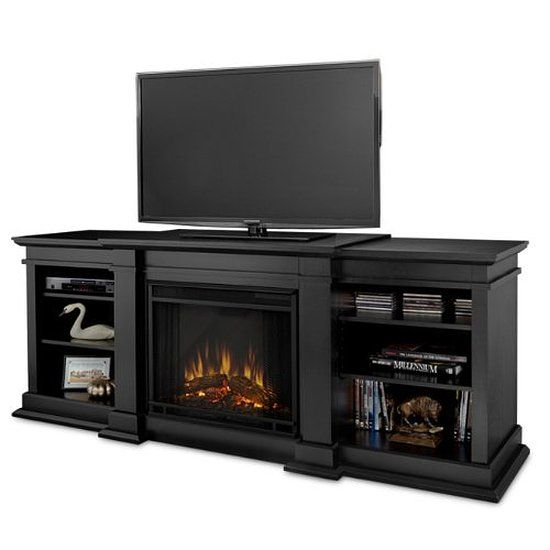 West Lake 60 Inch Tv Stand Fireplace Bench With Tempered Safety