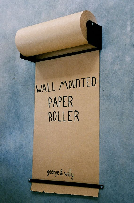 Wall Mounted Paper Roller by GeorgeandWilly on Etsy, $220.00
