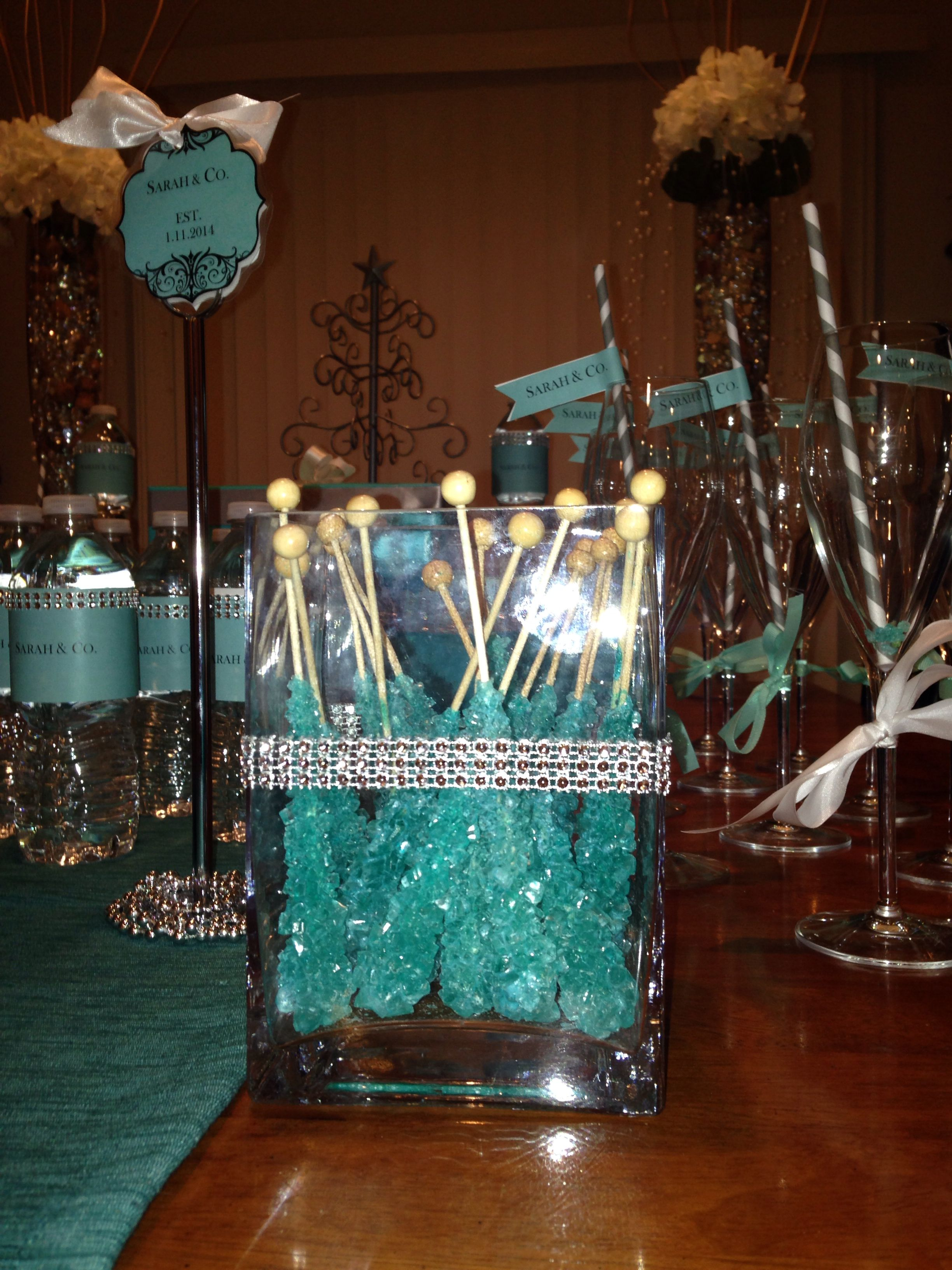 rock candy tiffany co themed bridal shower tiffany theme tiffany party tiffany birthday