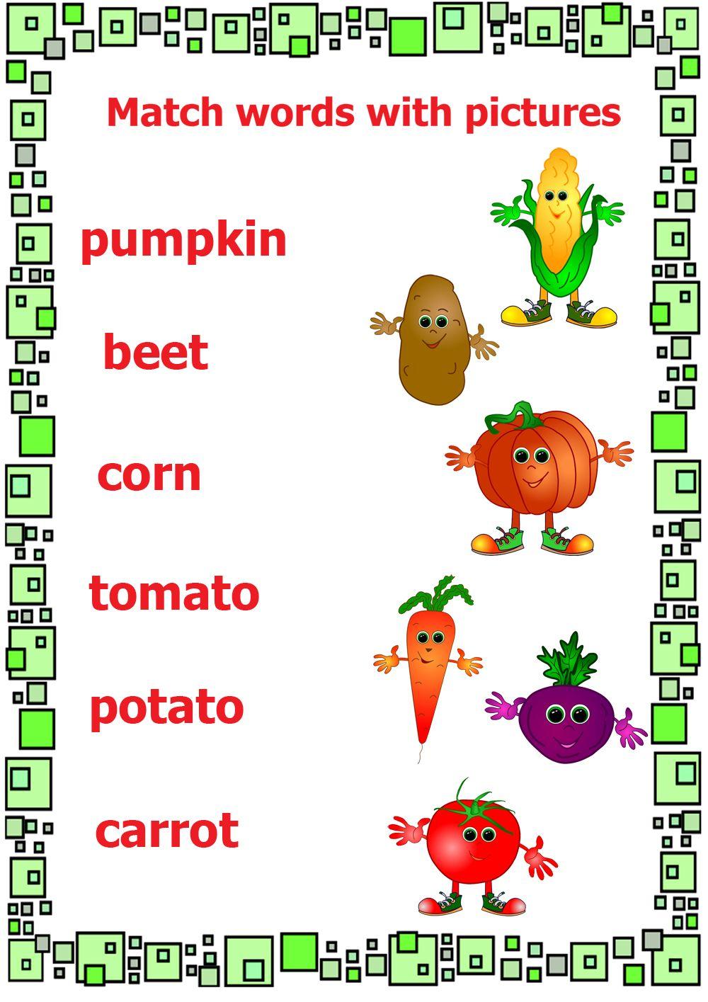 The Garden Song English Vegetable Vocabulary Kindergarten Worksheets Kindergarten Worksheets Printable Kindergarten Phonics Worksheets