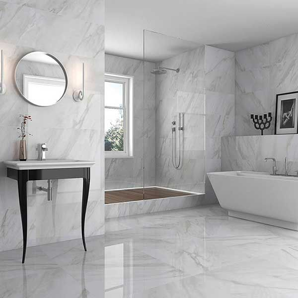 Marble Effect Bathroom Floor Tiles Diy Projects Tile Floor Diy Modern Bathroom Tile Bathroom Tile Diy