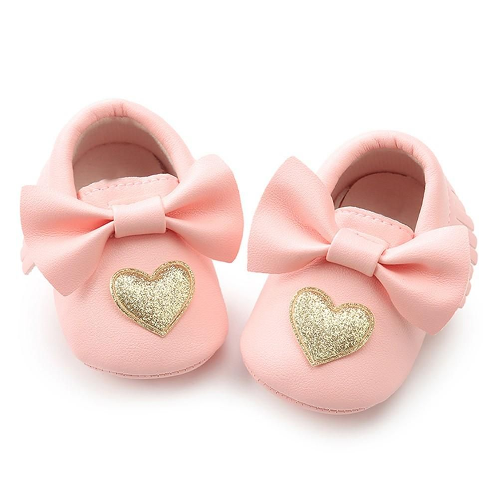 Cute baby shoes, Pink moccasins