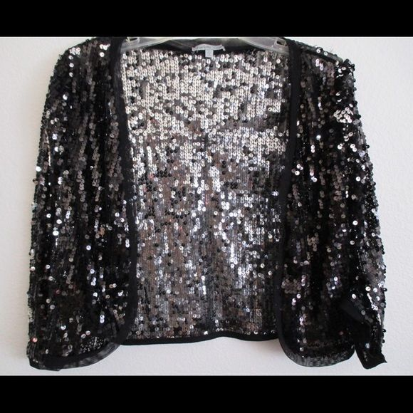 Black Cropped Sequin Mesh Cardigan NEW!  $18 ️️ shipped. ❌Trades. Charlotte Russe Tops