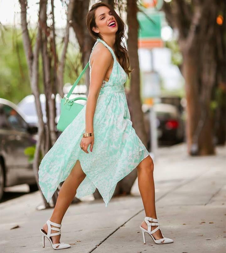 GUESS light blue dress! - shoes