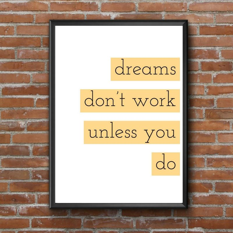 on SALE motivational art, motivational decor, create the things you ...