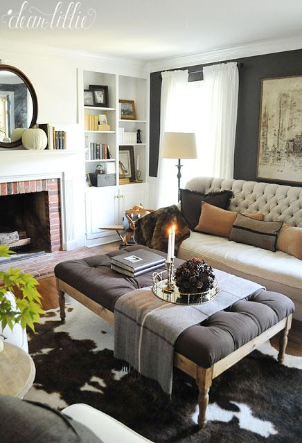 Some More Simple Fall Touches Our Entryway Guest Bedroom Bathrooms And A Little Bit Of Our Master Dear L Living Room Remodel Home Decor Living Room Decor Autumn touches in guest bedroom