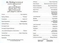 Wedding Program Samples