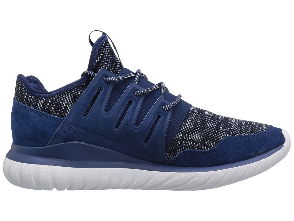 4ddd14306b49e8 adidas Originals Tubular Radial Knit Men s Running Shoes Mystery Blue Tactilce  Blue Core Black