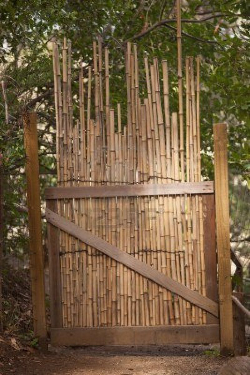 Pipe Bamboo Gate Japanese Fences Bamboo Garden Bamboo