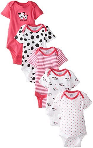6fc13eb0e24a nice Gerber Baby Girls  5 Pack Variety Bodysuits