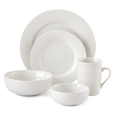 Jcpenney Home Bead 40 Pc Dinnerware Set Jcpenney