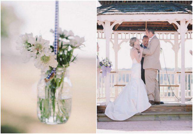 Pretty Purple and Cream Gingham Farm Wedding {Audra Starr Photography}