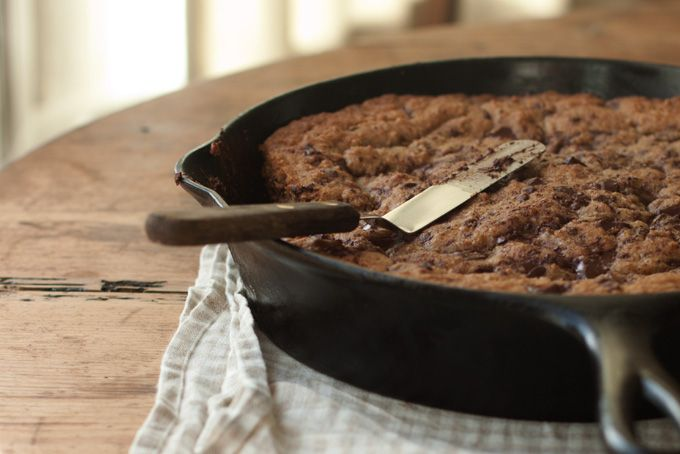 WHOLE WHEAT CHOCOLATE CHIP SKILLET COOKIES