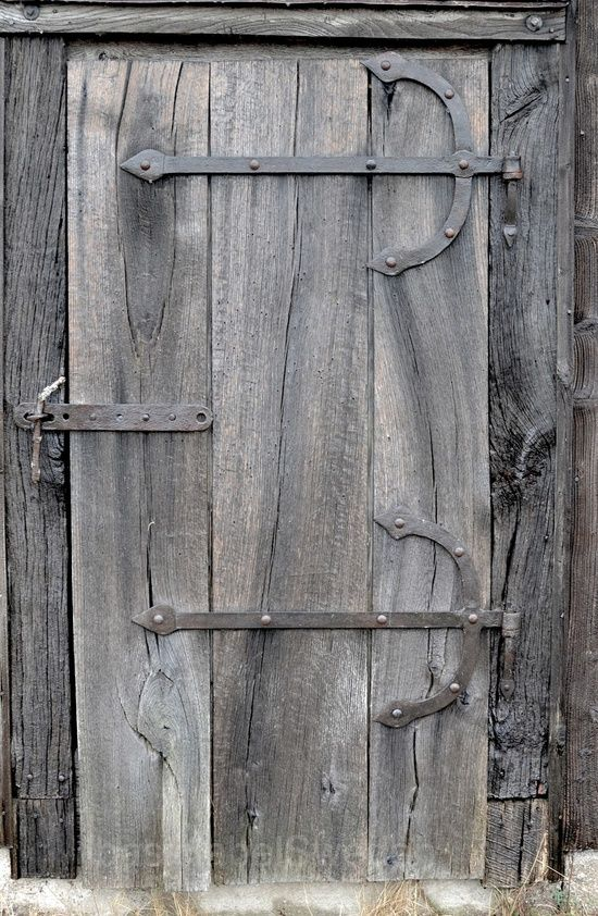 Weathered To Driftwood Grey Lovely Old Wooden Door With