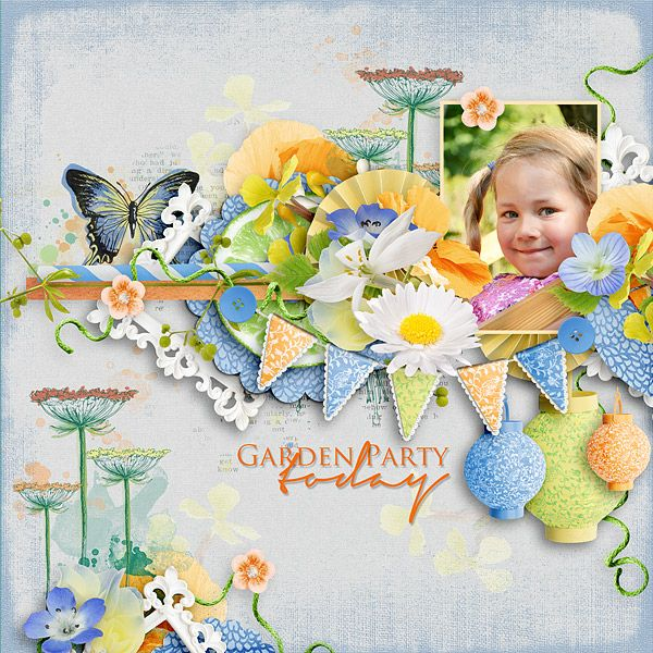 ~~ Garden Party ~~ NEW by Vero - The French Touch https://www.digitalscrapbookingstudio.com/vero-the-french-touch/  TP by Megan Turnidge