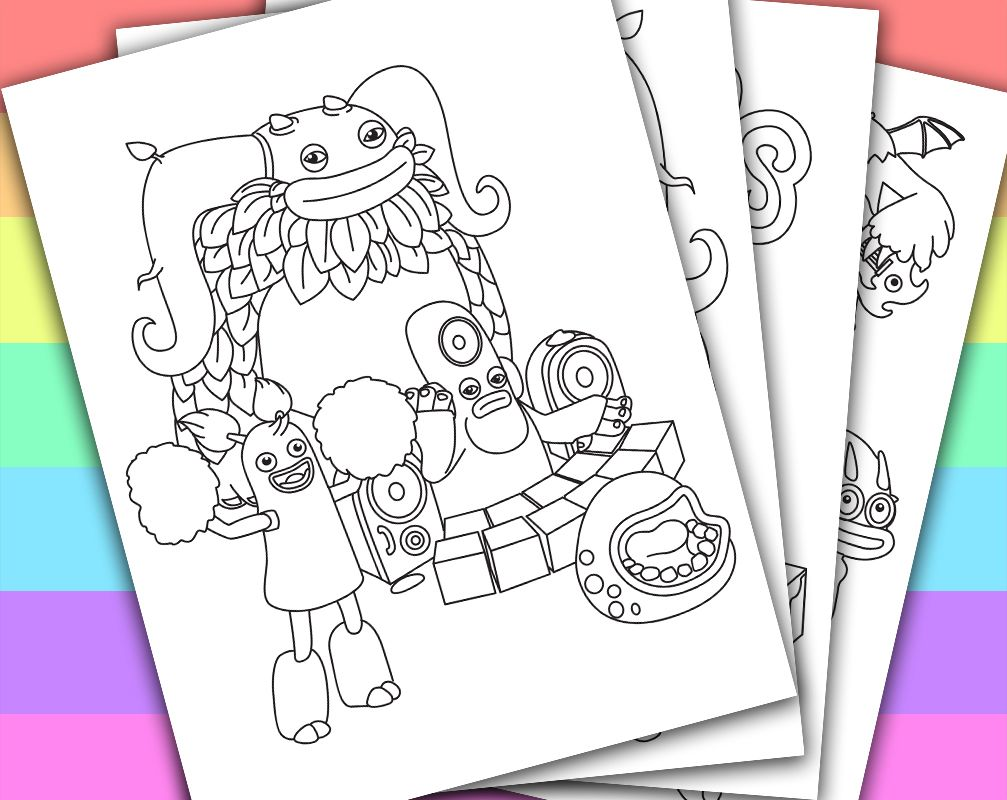 DIGITAL - INSTANT DOWNLOAD PRINTABLE COLORING PAGE This listing