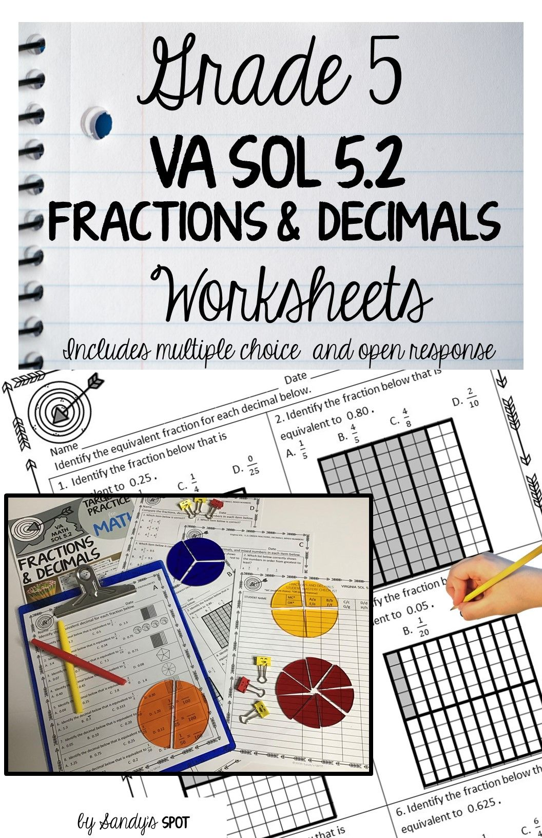small resolution of FRACTIONS \u0026 DECIMALS   Fractions worksheets