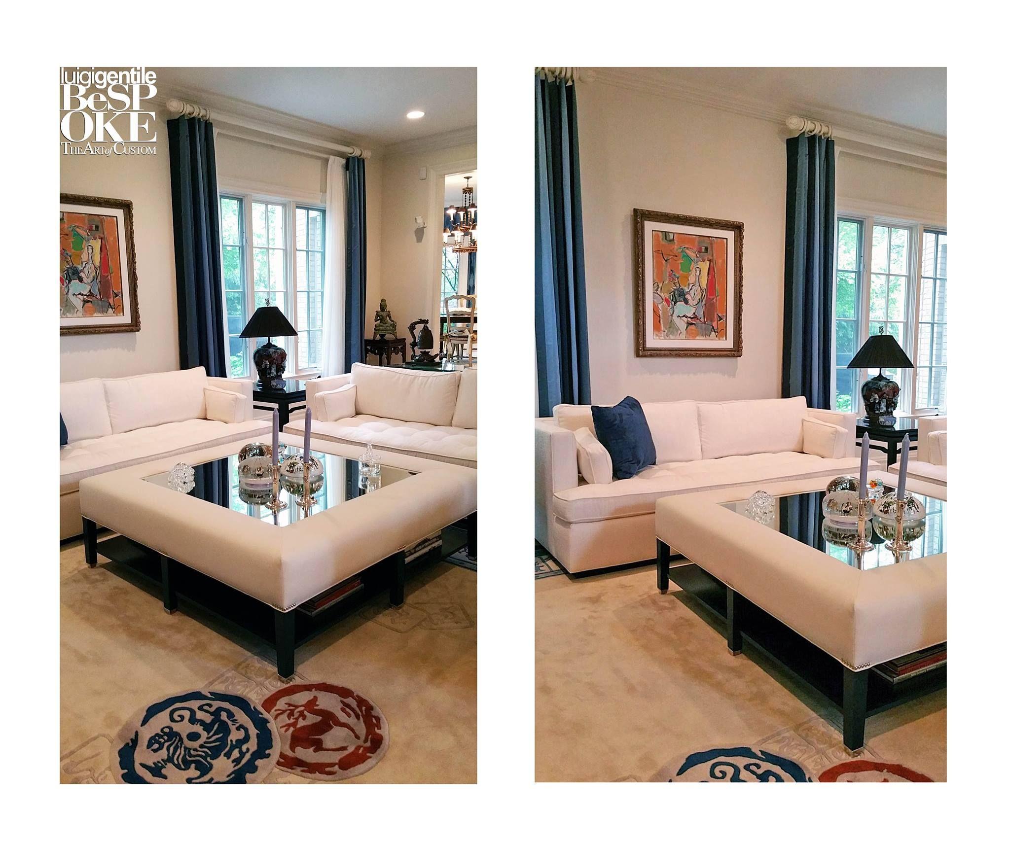 Our Custom Made Jewel Ottoman With Glass Insert For John Michael Murphyu0027s  Room. #