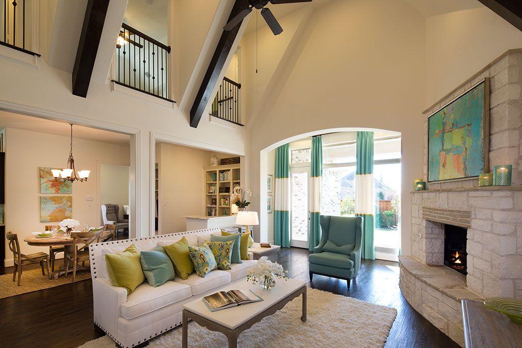 Lovely Highland Homes   Lawler Park 65s   Living Room   Frisco, TX   Plan 794