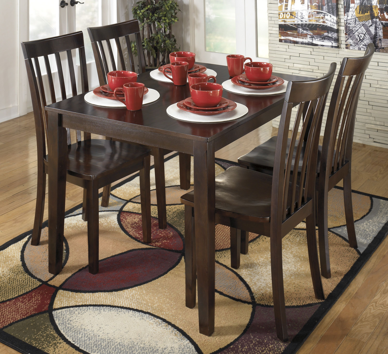 Hyland Rectangular Dining Room Table Set Wood Reddish Brown Signature Design By Ashley