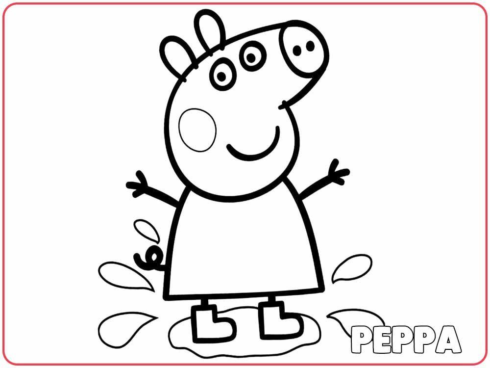 peppa pig para colorear. Dibujos PEPPA PIG para colorear  dibujos Pinterest