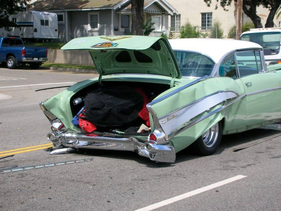 Wrecked 57 With Images Car Crash Cool Car Pictures Old