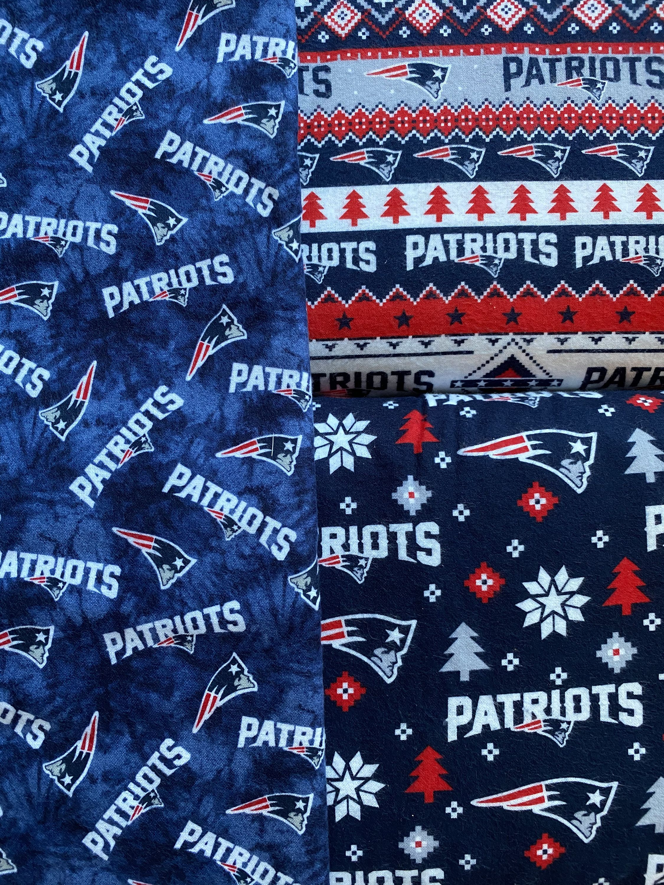 NFL New England Patriots Flannel Cotton FABRIC 1/2Y Etsy