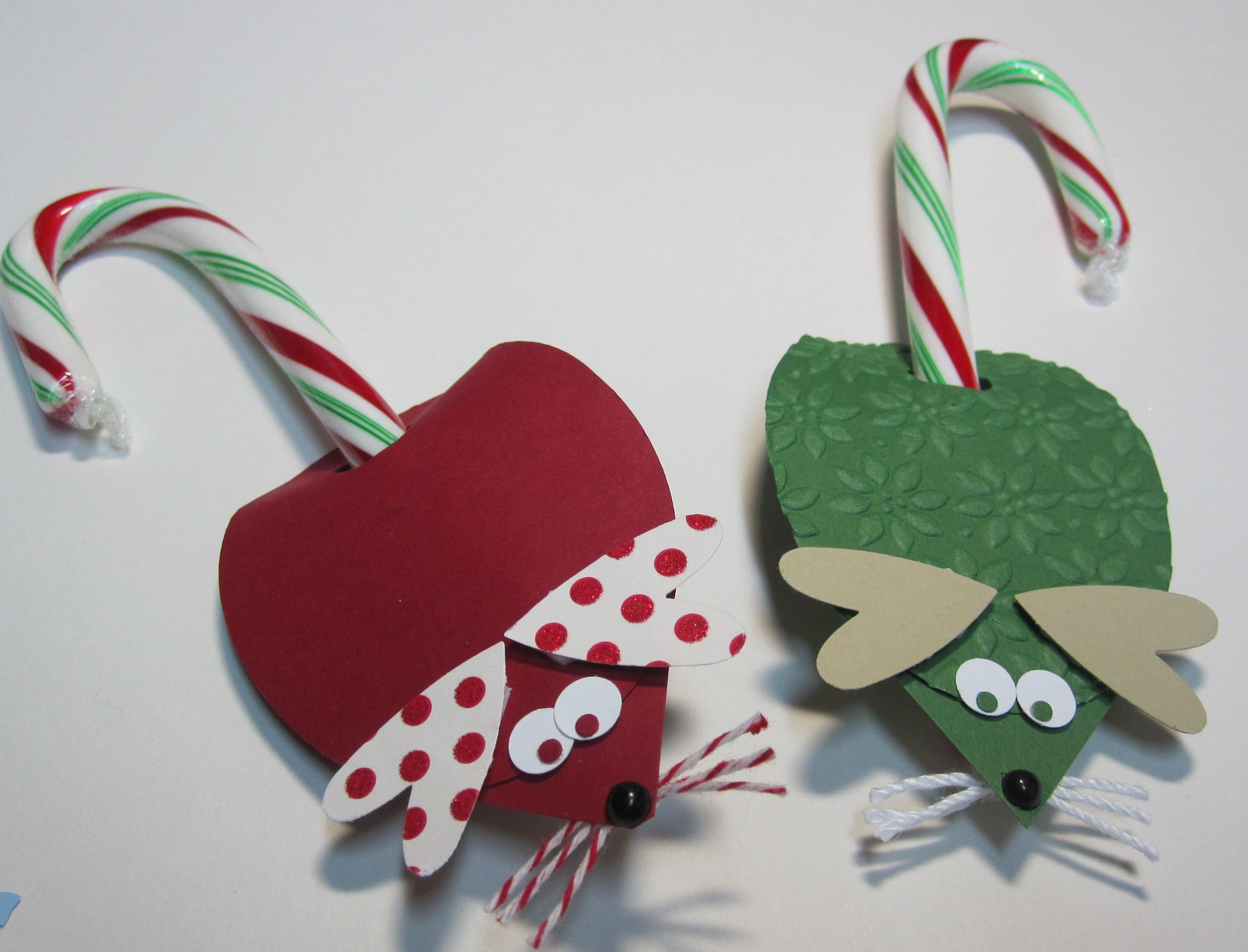 Candy Cane Christmas Mice