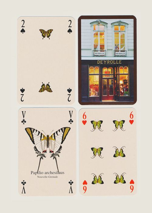 Les Papillons Playing Cards from Deyrolle
