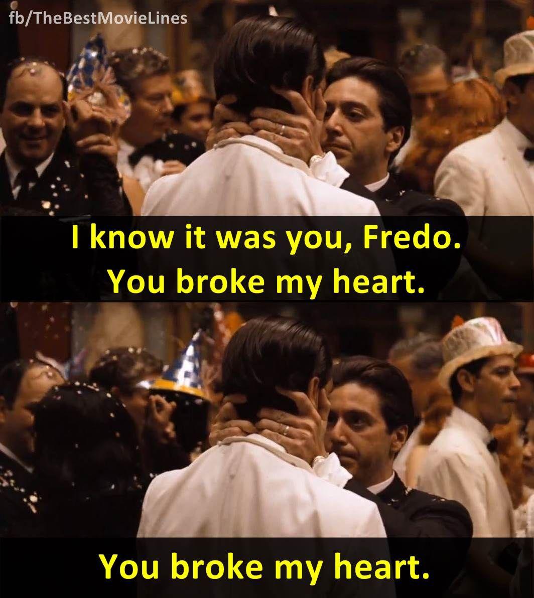 "Michael Corleone Quotes To Fredo ""I know it was yo..."
