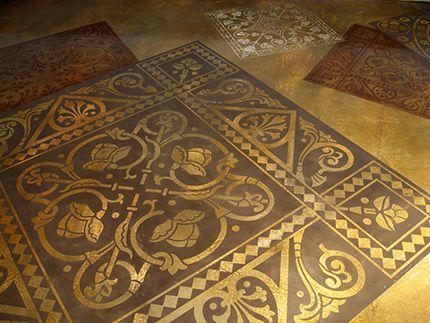 Fab Floor Decorative Concrete With Stencil Patterns
