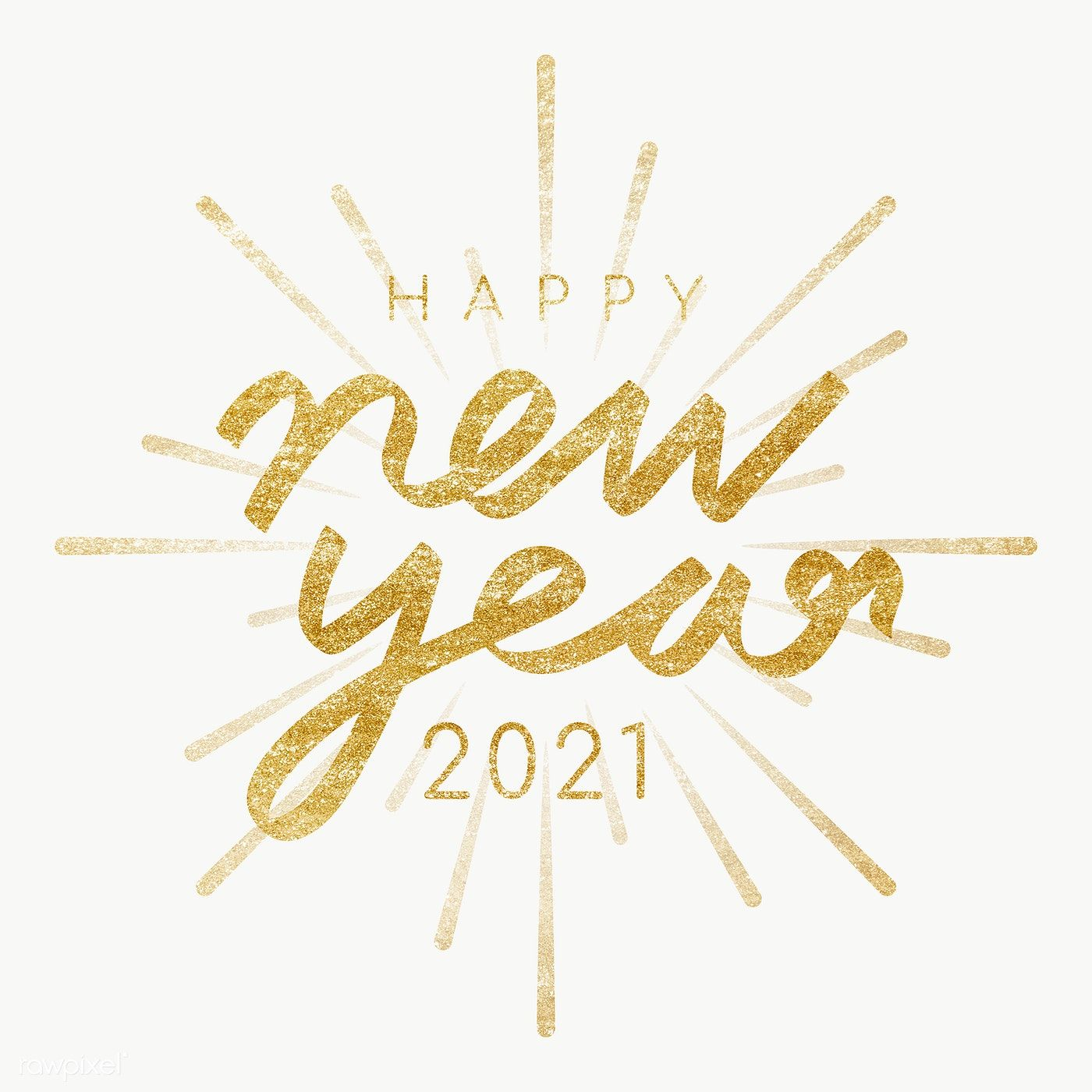 Happy New Year 2021 transparent png free image by