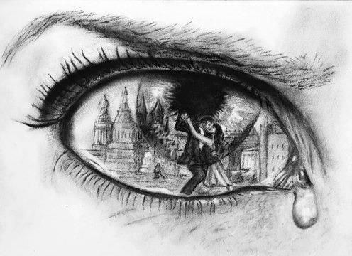Gallery for good drawings of eyes crying