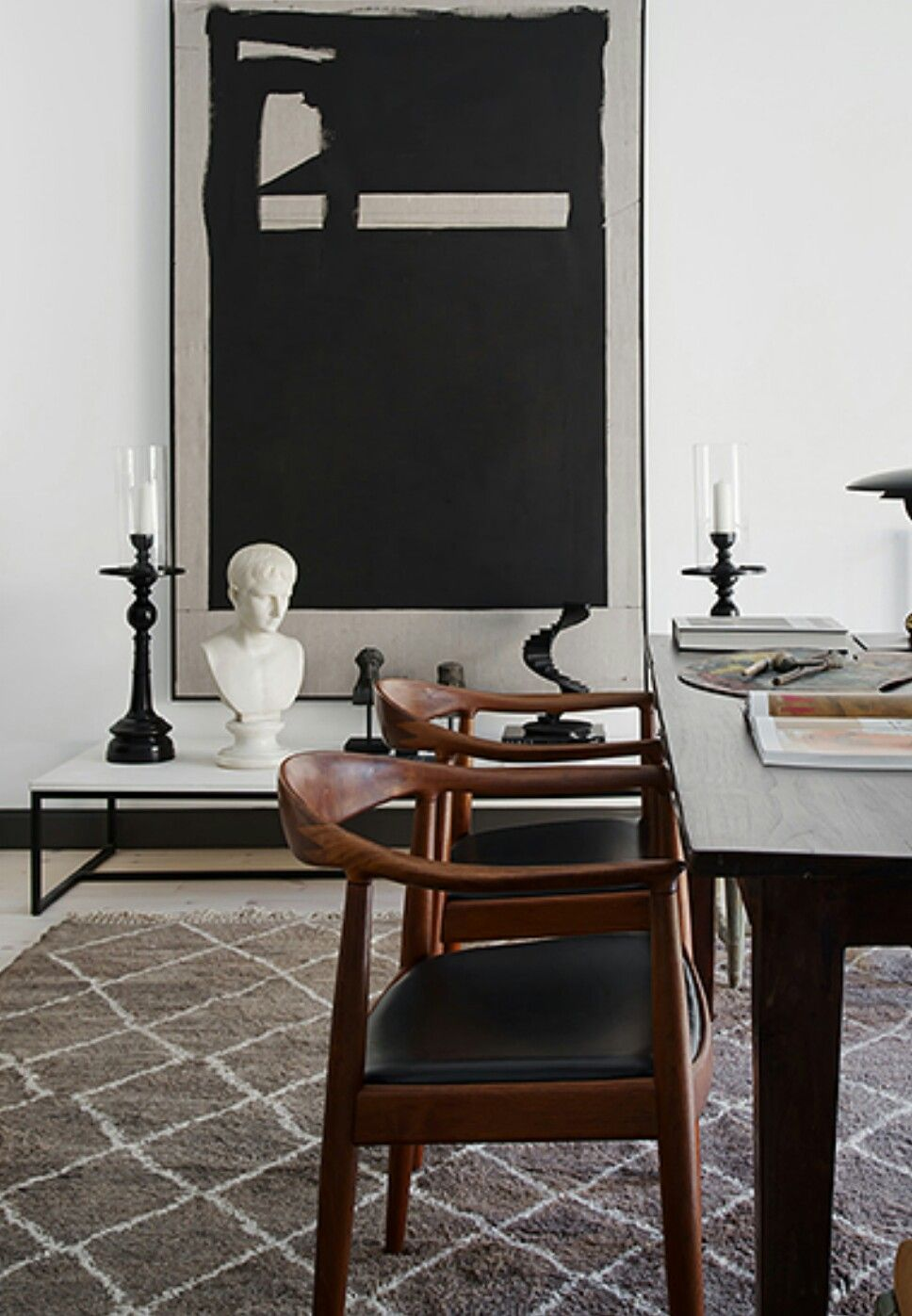 The chairs!!! Love this modern eclectic dining room
