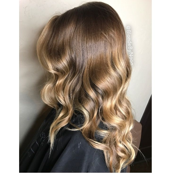 Balayage highlight Carmel tortoise hair color beige low light brown hair blonde
