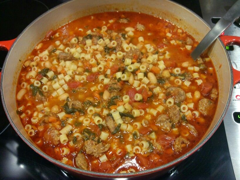 Minestrone with Hot Italian Sausage