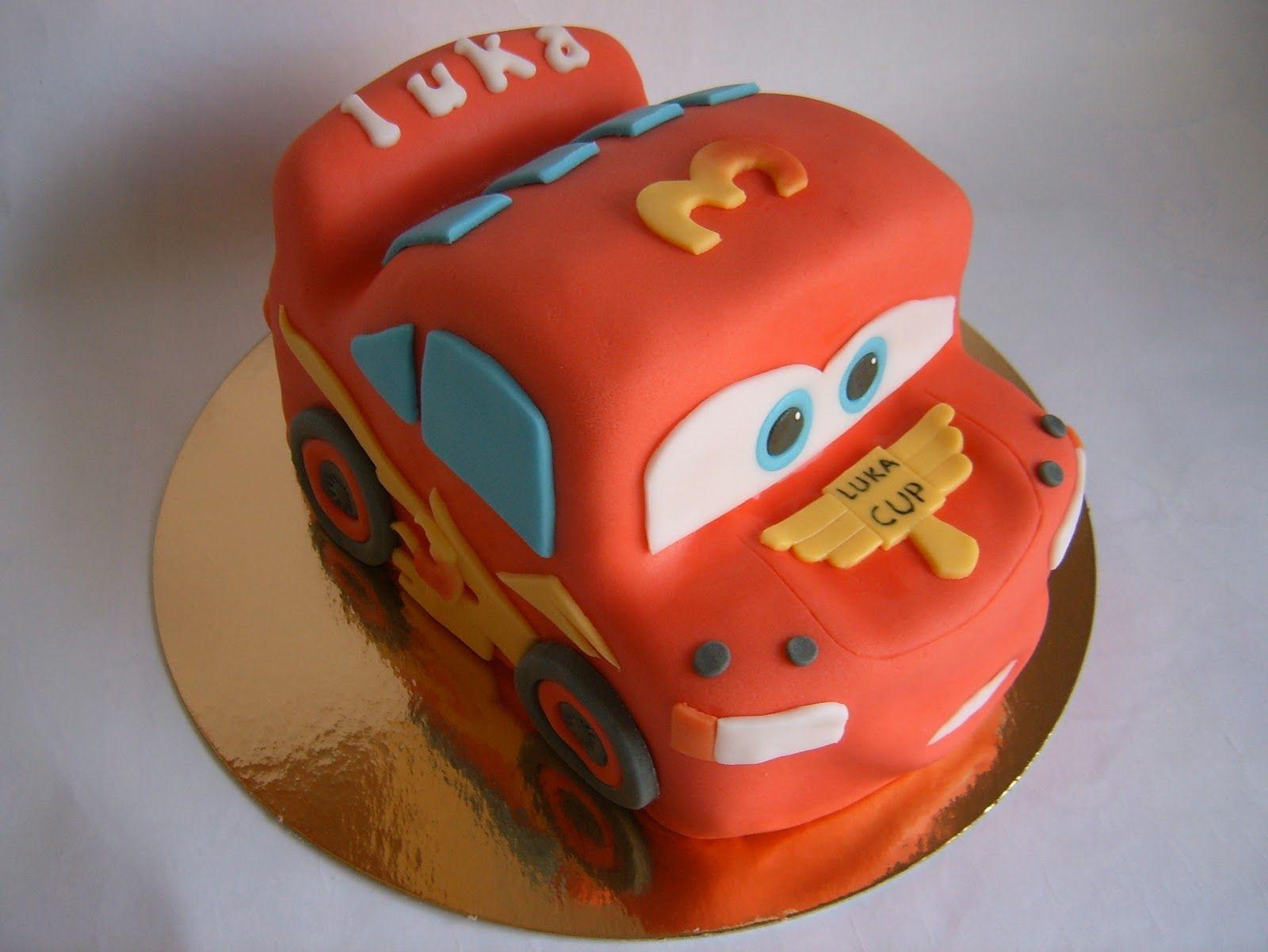 Cars lightning mcqueen birthday cake cake fancy cakes