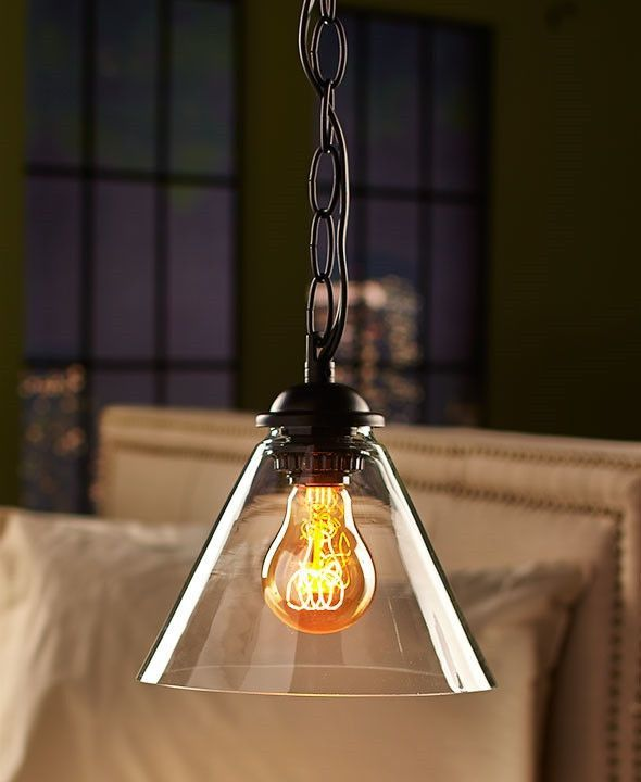 Vintage Industrial Glass Pendant Lamp Iron Glass Light