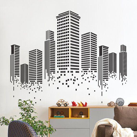 Lovely Office Designs · Autoadesivo Della Parete Urbana   Ufficio Wall Decal    Parete Grafica   Vinile Autoadesivo Della Parete Gallery