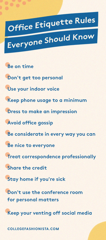 Office Etiquette Rules Everyone Should Know Etiquette And