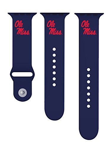 University Of Mississippi Ole Miss Silicone Sport Band Fits On Apple Watch Click Image To Review Mo Apple Watch Accessories Orange Watches Apple Watch Bands