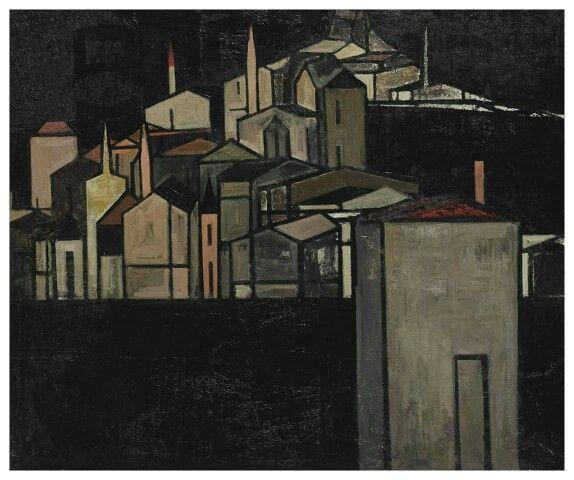 Syed Haider Raza (b. 1922) Italian Village, 1953