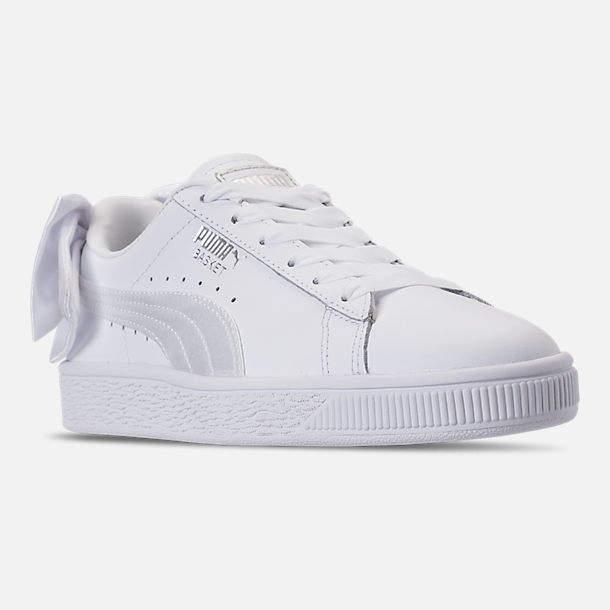 Puma Girls  Grade School Basket Bow Casual Shoes  b0465edf2