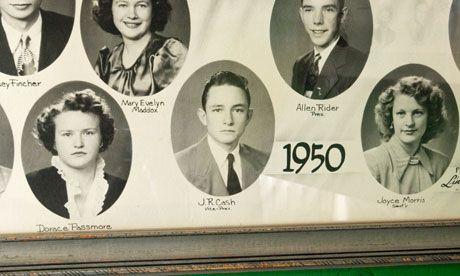Johnny Cash senior high school photo