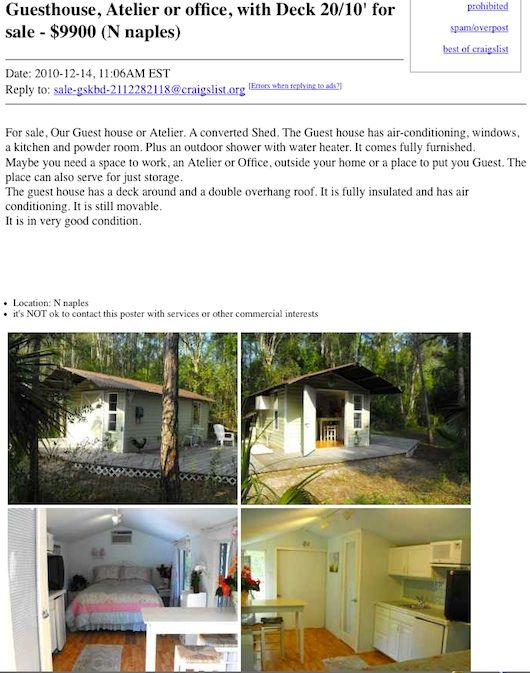 shed converted tiny house on craigslist Tiny House For Sale